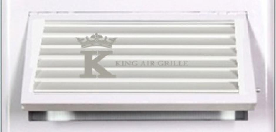 Wall Grille With Opposed Blade Damper : Fresh air grille model kfag h hinge type king